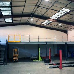 mezzanine industrielle garage